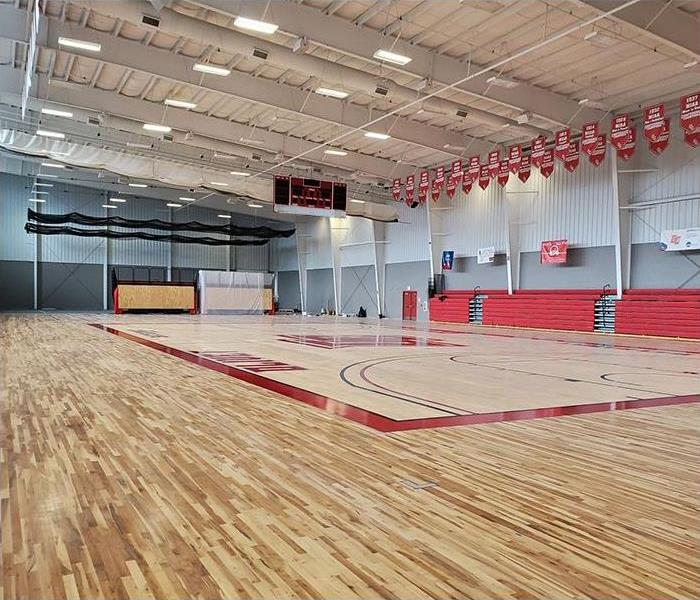After replacing gym floor