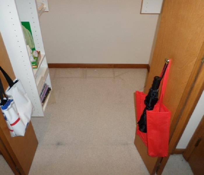 Basement floods during summer rains Before