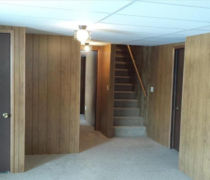 Restoring a basement in a Gladwin county home.