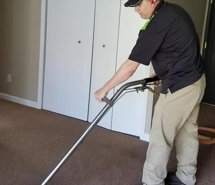 Carpet cleaning at a local apartment complex