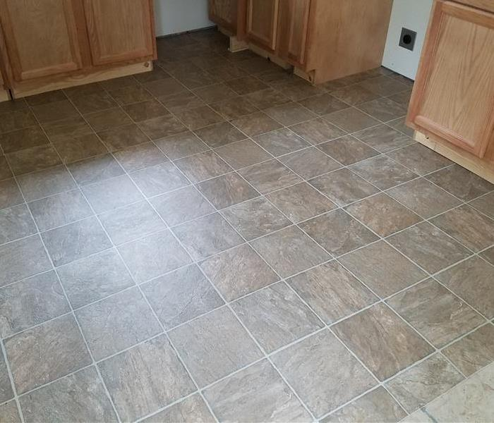 New flooring in a water damaged house