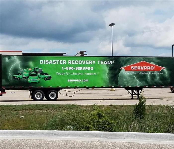 Storm team equipment trailer at Lowes